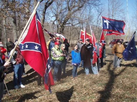 National Confederate Flag Day Centralia Battle Field 2016